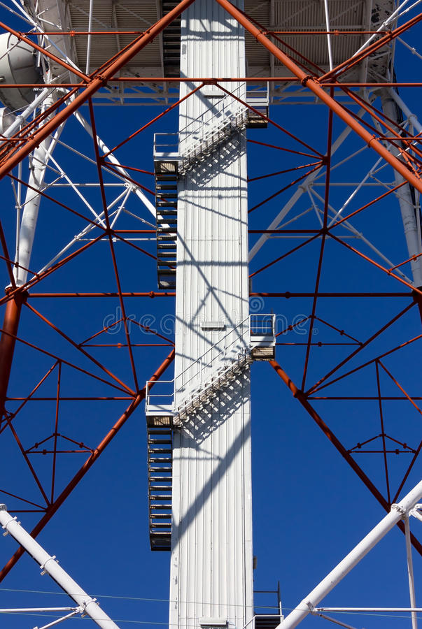 Structure of a Telecommunication Antenna. Close-up on the structure of a telecommunication antenna royalty free stock images
