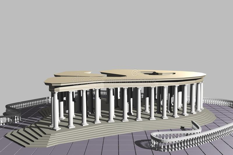 The structure type of pavilion 2-02 stock photos
