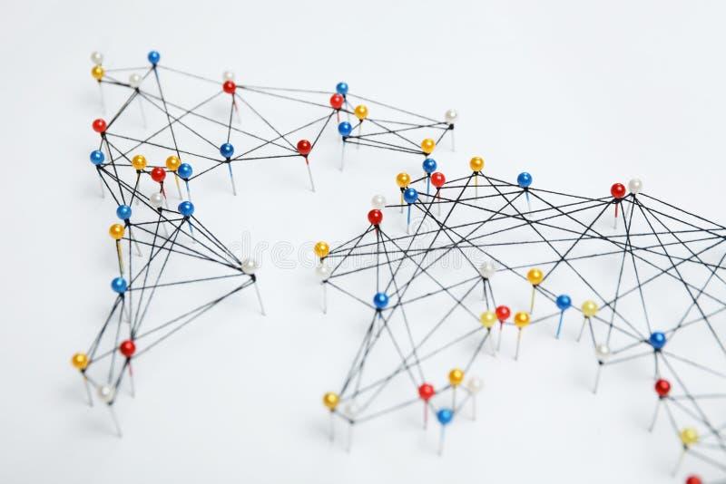 Structure of world economy, communication network royalty free stock photo