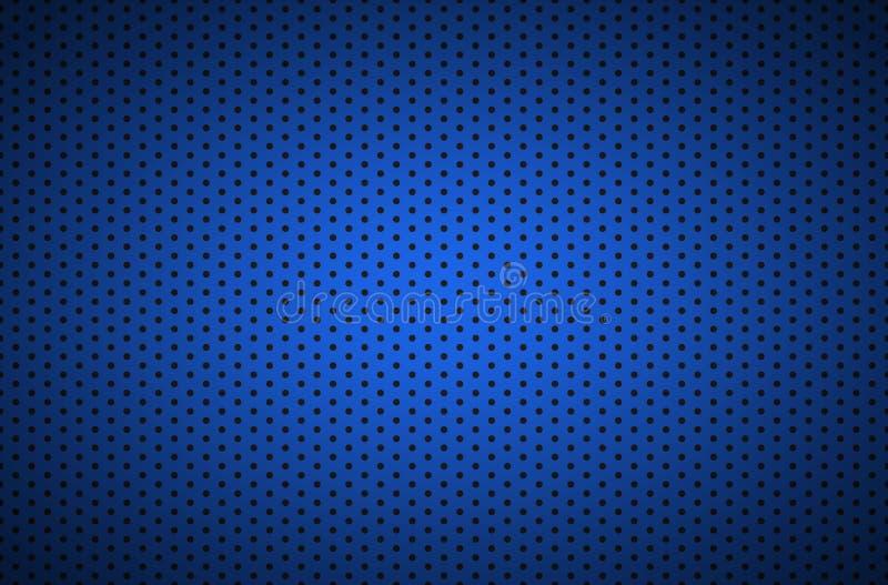 Structured dark blue metallic perforated background, technology illustration. Structured dark blue metallic perforated background, technology vector illustration royalty free illustration