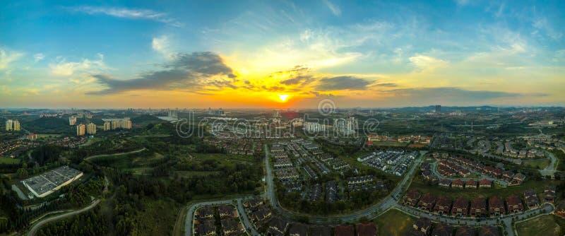Panoramic town of Putrajaya, Malaysia stock images