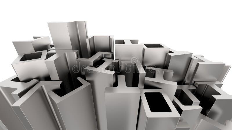 Structureel metaalvormen vector illustratie