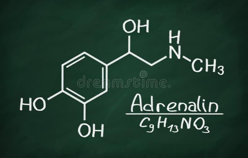 Structureel model van Adrenaline vector illustratie