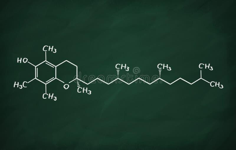 Structureel model van Vitamine E stock illustratie