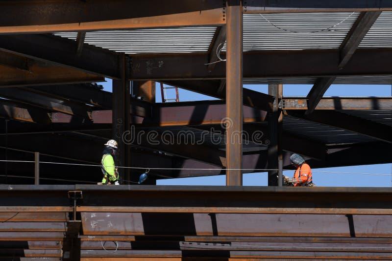 Structureel Staalbouw voor de Nieuwe Bouw stock foto