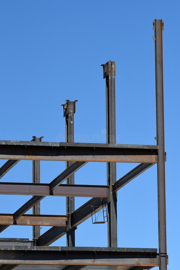 Structureel Staalbouw voor de Nieuwe Bouw stock fotografie