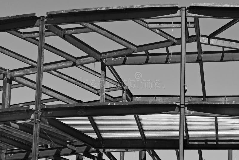 Structureel Staalbouw voor de Nieuwe Bouw stock afbeeldingen