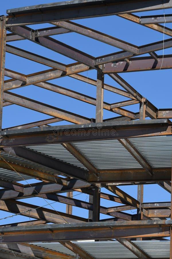 Structureel Staalbouw voor de Nieuwe Bouw royalty-vrije stock foto's
