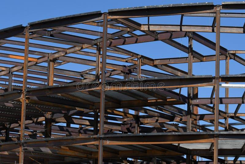 Structureel Staalbouw voor de Nieuwe Bouw stock foto's