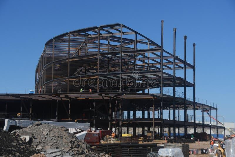 Structureel Staalbouw voor de Nieuwe Bouw royalty-vrije stock afbeelding