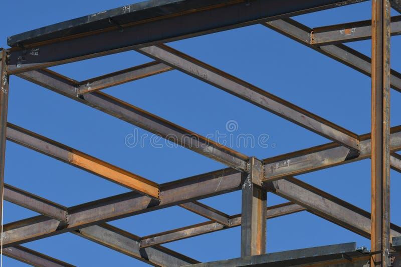 Structureel Staalbouw voor de Nieuwe Bouw royalty-vrije stock fotografie