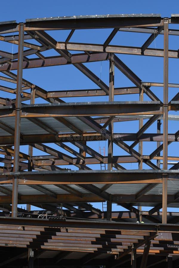 Structureel Staalbouw voor de Nieuwe Bouw royalty-vrije stock afbeeldingen