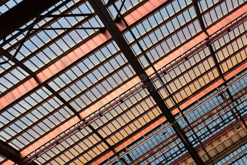 Structureel staaldak stock foto