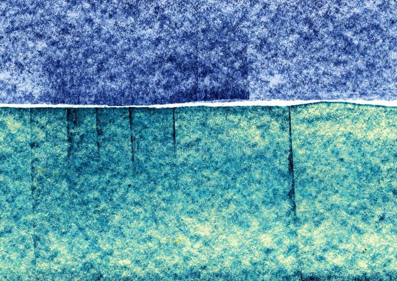 Structurele tekeningsachtergrond, blauwe krijtslagen, lineaire artistieke achtergrond, decoratieve structuur royalty-vrije illustratie