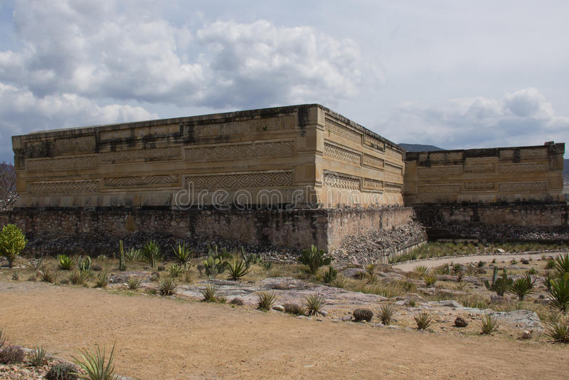 Structuren in Mitla, Oaxaca stock foto