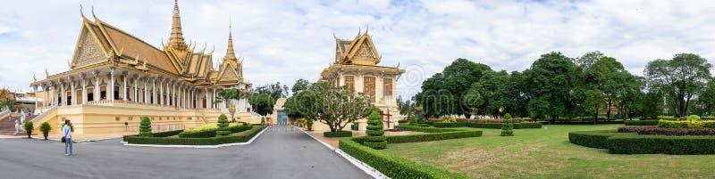 Structures de Royal Palace dans Phnom Penh photo libre de droits