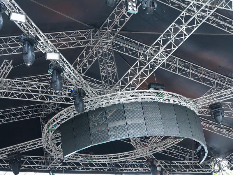 Structures Of Stage Illumination Lights Royalty Free Stock Photos