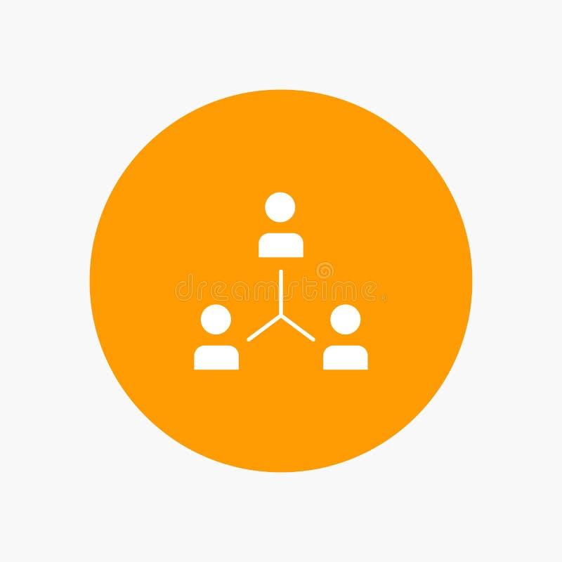 Structuur, Bedrijf, Samenwerking, Groep, Hiërarchie, Mensen, Team royalty-vrije illustratie