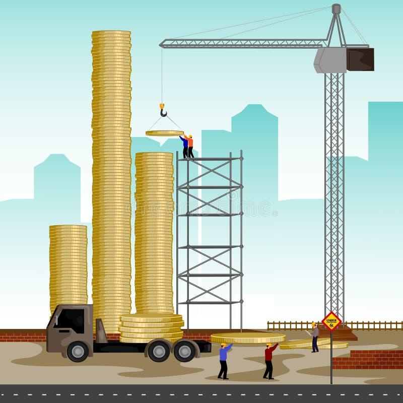 Structuur de bouw van muntstuk vector illustratie
