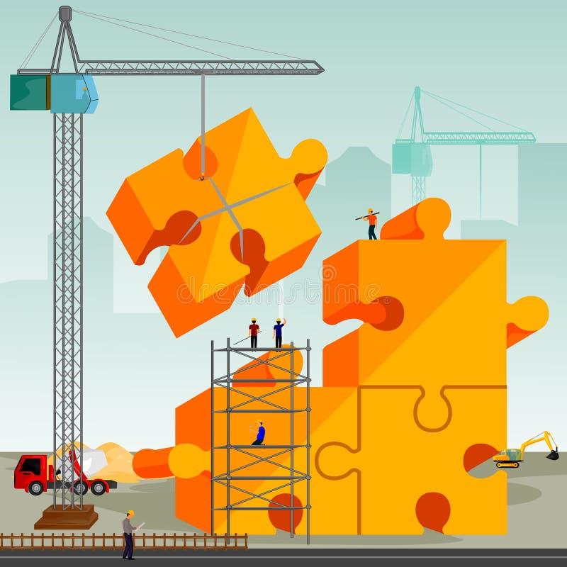 Structuur de bouw van puzzel royalty-vrije illustratie