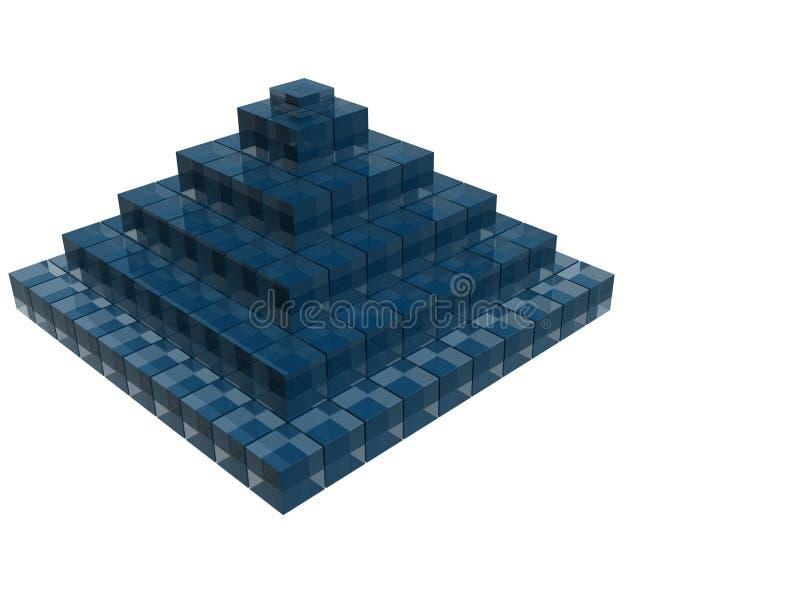 Structuur van de bedrijfs de blauwe raytracepiramide stock illustratie