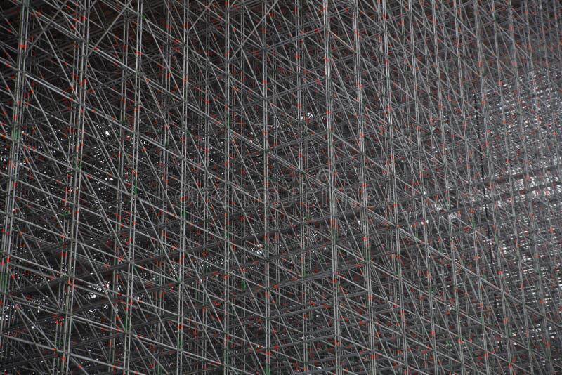 Structuur van de staven ondersteunend skihelling royalty-vrije stock afbeeldingen