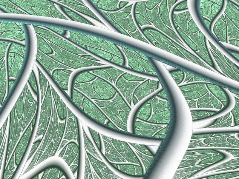 Structuur van een blad Textuurfractal ontwerp royalty-vrije illustratie
