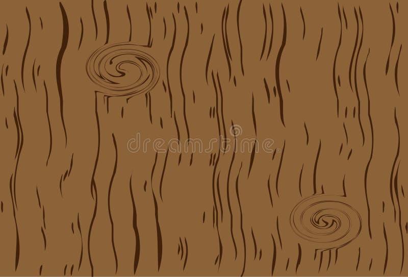 Structuur van een boom met knopen vector illustratie