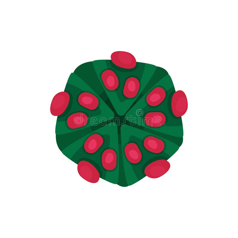 Structuur van gevaarlijk virus Gevaarlijk micro-organisme Concept infectieziekte Vlak vectorelement voor medisch vector illustratie