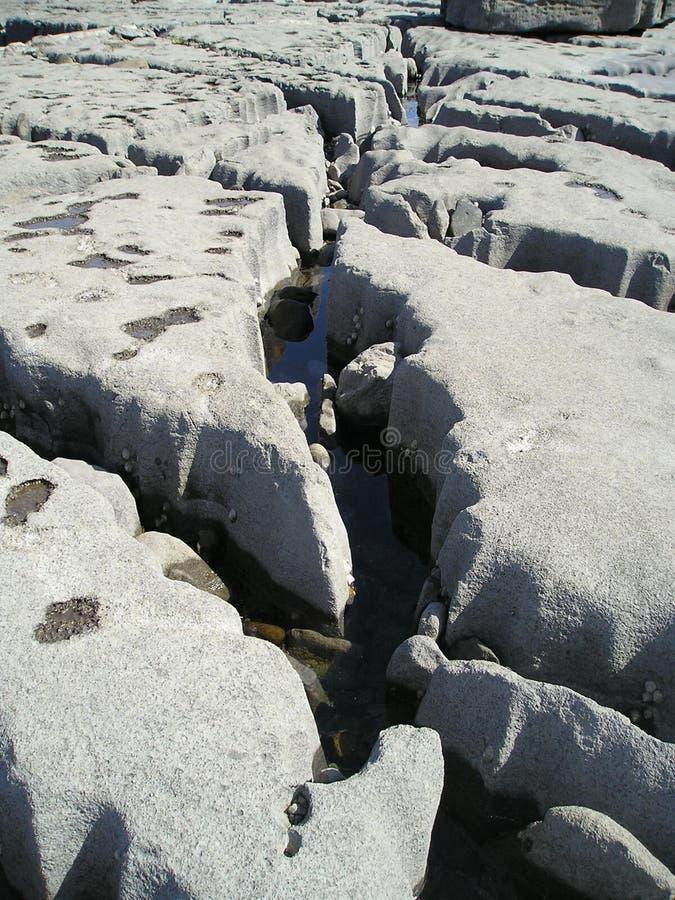 Structuur van kalksteenkust, Doolin, Ierland, de EU. royalty-vrije stock afbeelding