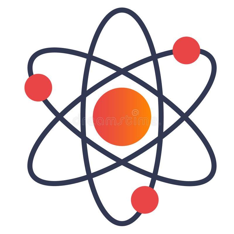 Structuur van kern van atoom stock illustratie