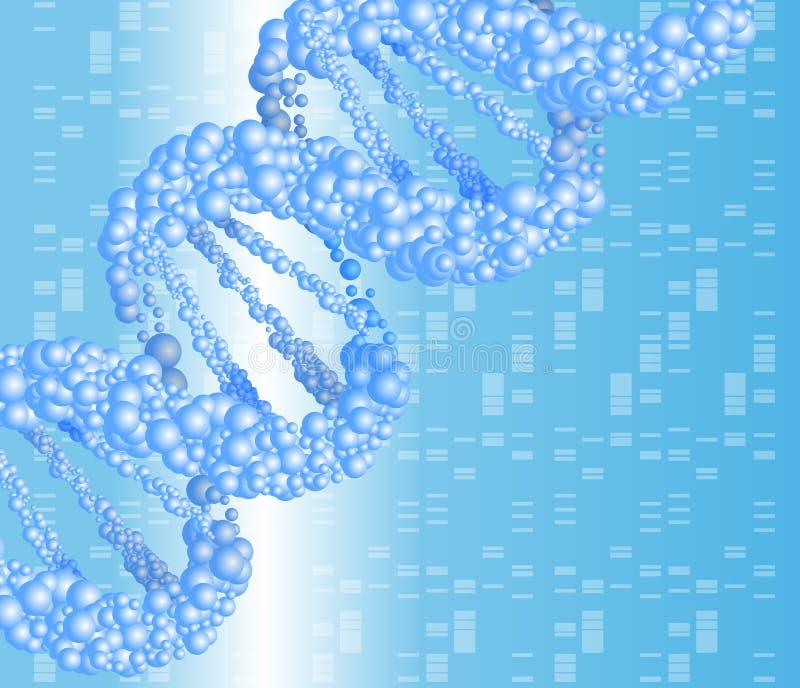 Structuurmolecule en mededeling DNA stock illustratie