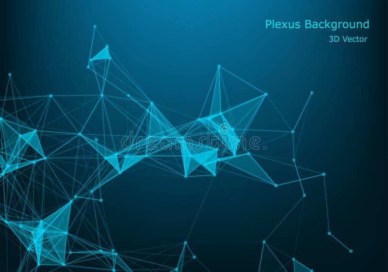 Structuurmolecule en mededeling DNA, atoom, neuronen Wetenschappelijke moleculeachtergrond voor geneeskunde, wetenschapstechnolog stock illustratie