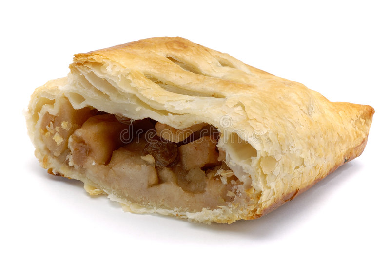 Strudel. Isolated on white royalty free stock photos