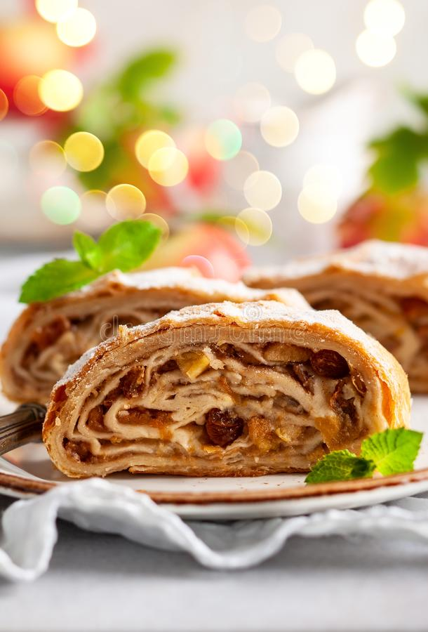 Strudel aux pommes photo stock