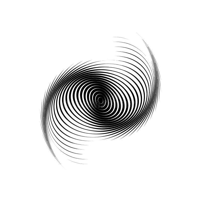 Strudel-Bewegungshintergrund des Designs einfarbiger stock abbildung