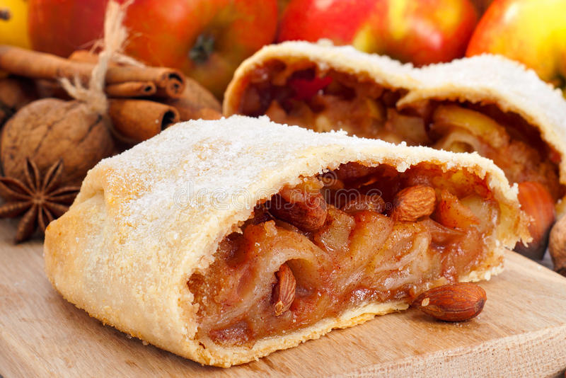 Strudel de Apple imagem de stock royalty free