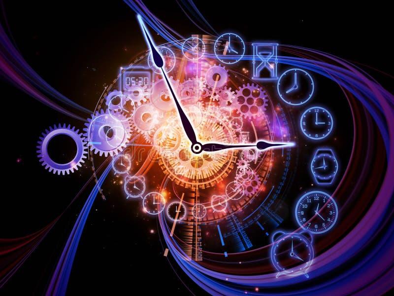 Strudel der Zeit stock abbildung
