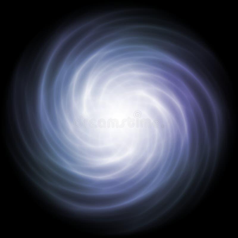 Strudel des weichen blauen weißen Lichtes stockfotos