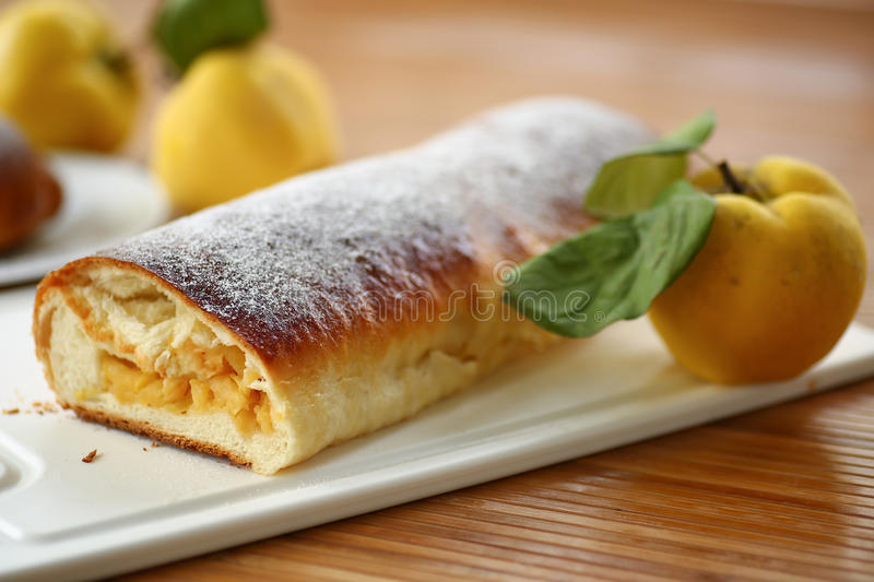 Download Strudel with quince stock image. Image of gourmet, bread - 34294073