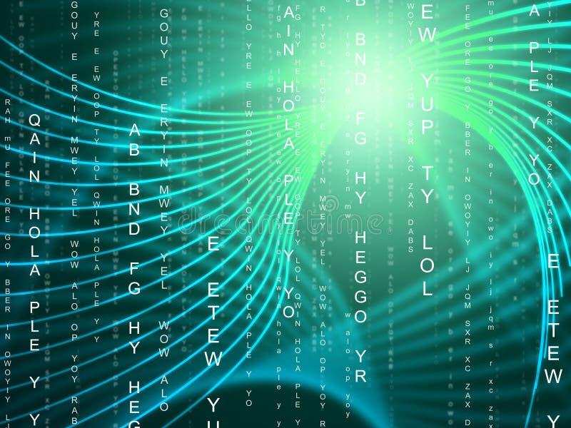 Strudel-Technologie stellt helle Explosion und Computer dar lizenzfreie abbildung
