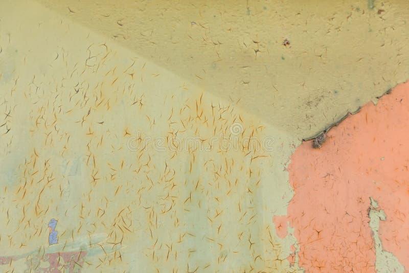 Strugać ściennego tło, kolor żółtego i menchie, obraz royalty free