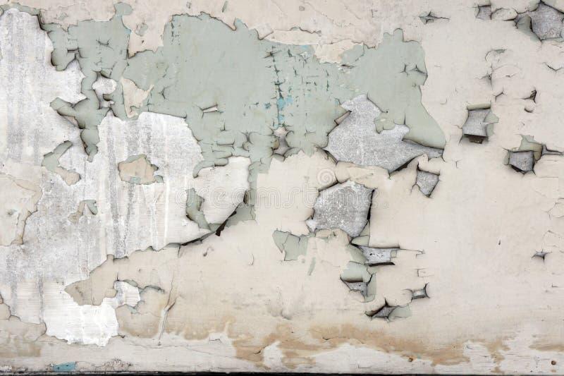 Strugać farby betonowej ściany tekstury tło zdjęcie stock