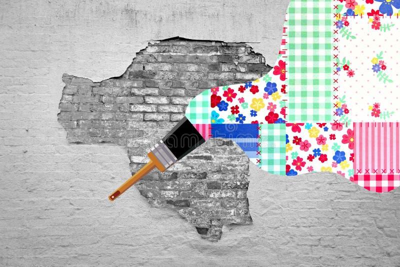 Strugać farby pluśnięcie colour zdjęcie stock