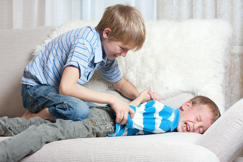 Download Struggle Between Two Brothers Stock Image - Image: 16437423