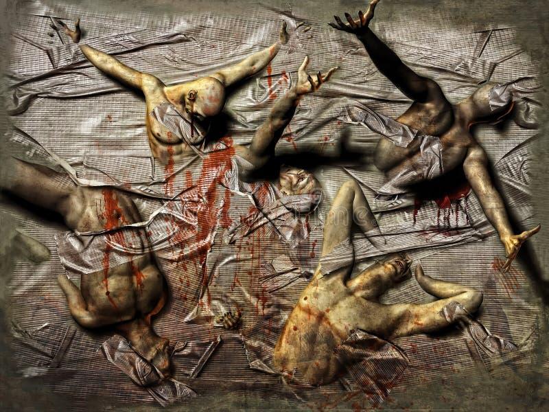 Download Struggling men in tape stock illustration. Image of adult - 19620318