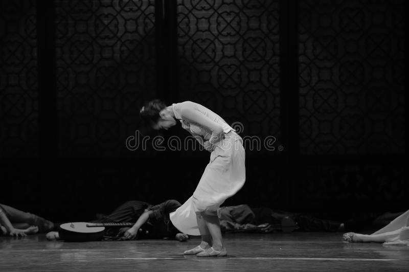 Struggling with pain-The third act of dance drama-Shawan events of the past. Guangdong Shawan Town is the hometown of ballet music, the past focuses on the stock photo
