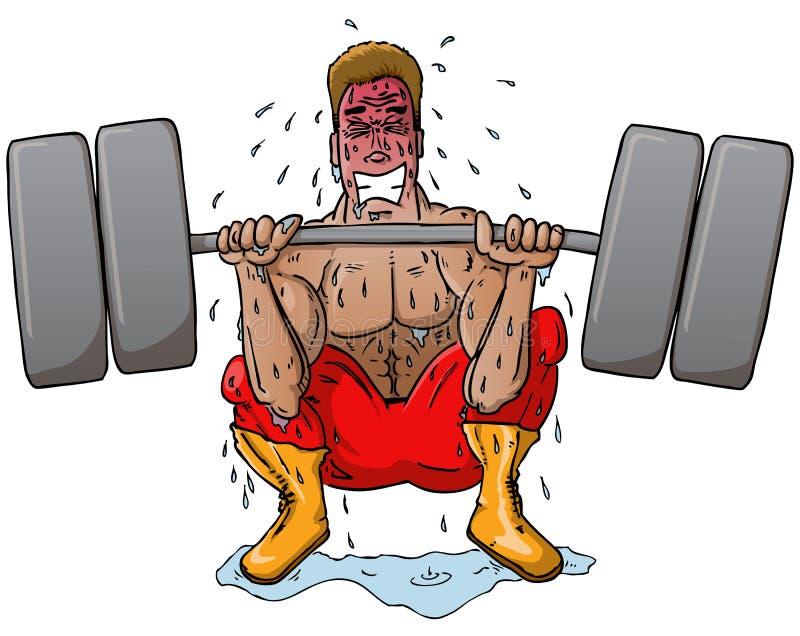 Struggling Power Lifter stock illustration