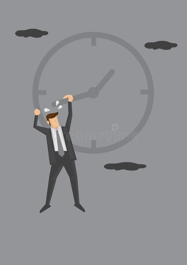 Struggling with Time Management Conceptual Vector Illustration stock illustration