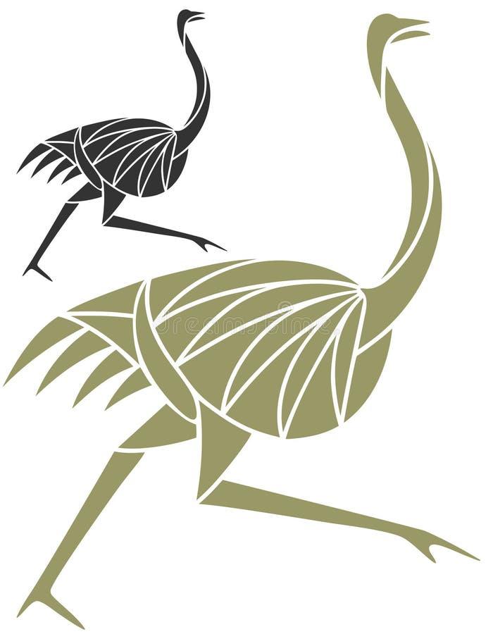 Struisvogel royalty-vrije illustratie